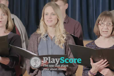 Choir Practice with PlayScore 2