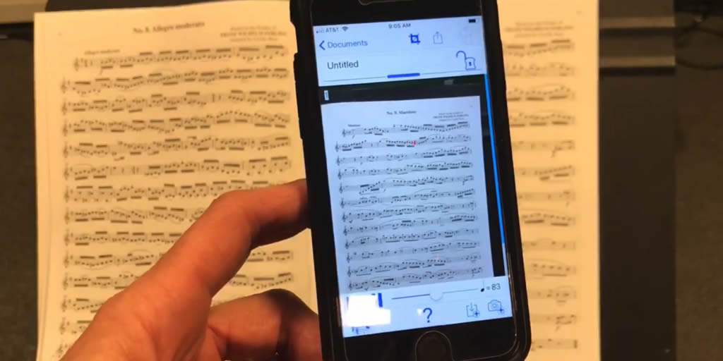Scanning music into Noteflight with Playscore 2