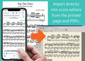 Import directly into score editors from the printed page